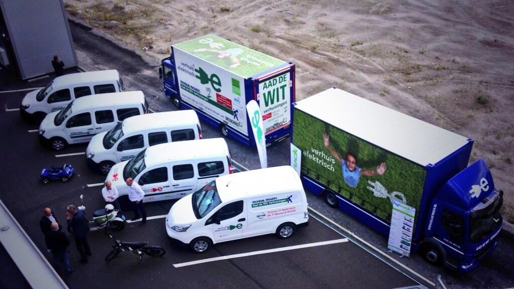 30dc4f9bf8b494 Aad de Wit uses now two full electric trucks for removals. Hereby